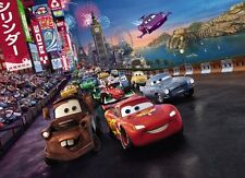 254x184cm Wall mural photo wallpaper chlildrens room decor Disney Cars cartoon