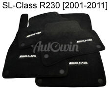 Floor Mats For Mercedes-Benz SL Class R230 AMG Emblem Black NEW Premium Carpets