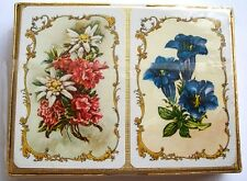 TWIN DECK BOTH SEALED 1970s ALPINE FLOWERS DESIGN PLAYING CARDS VINTAGE