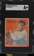 1933 Goudey World Wide Gum Babe Ruth #93 SGC Auth