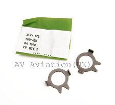 "1/2"" Tab Washer Stainless steel x2 - Rolls Royce Avon Jet engine aircraft part"