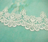 Bridal Dress Lace Trim Embroidered Gown Ribbon Ivory Wedding Floral Lace Edging
