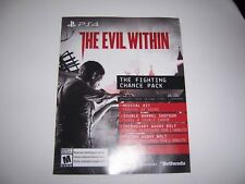 The Evil Within Download Code DLC Fighting Chance Pack PS4 Playstation 4