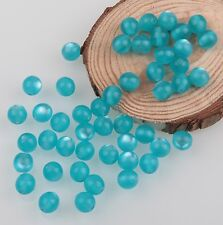 100 pcs 8mm Round Acrylic Cat's eye Opal Spacer Loose Beads Jewelry Making