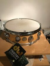 """DW Collectors Series 5x14"""" Natural Maple Snare Drum GOLD LABEL (new)"""