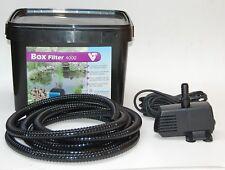 Gartenteichfilter Teichfilter Set mit Filter Pumpe Schlauch optional mit UVC 11W