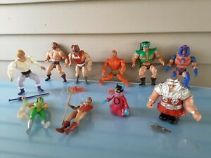 Vintage He Man Figures With Some Accessories. Lot of 10