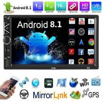 """7"""" 2Din Android 8.1 Autoradio Car Stereo MP5 Media Player BT GPS touchscreen"""