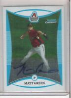 2008 BOWMAN CHROME MATT GREEN ROOKIE AUTOGRAPH