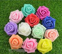 10PCS 6cm Foam Roses Artificial Flower Wedding Bride Bouquet Party Decor DIY