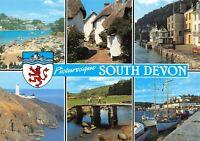 Postcard Picturesque South Devon Multi View Salcombe Dartmouth Torquay 58X