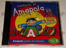 Cantando en Amapola Vol. 3 Jardin De Infantes (CD, 2000, LM) MADE IN ARGENTINA