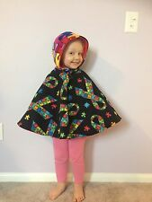 Children's REVERSIBLE Carseat Poncho Size 2T-8. **MANY OPTIONS AVAILABLE**