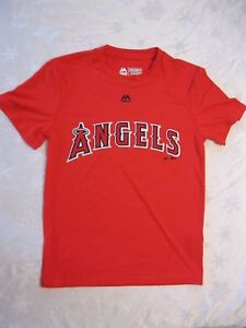 NEW LOS ANGELES ANGELS MGY23 YOUTH MLB EVOLUTION TEE SIZE YOUTH MEDIUM COOL BASE