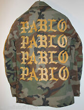 c49e0c4a8ebed The Life of Pablo PopUp Shop Kanye Military Camouflage Gold Jacket One Size  New