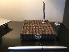 MINAS Dogtooth Harris Tweed & Thistle Deluxe Desk Organiser Pen Holder