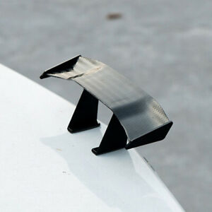 1x Mini Spoiler Auto Car Tail Decoration Spoiler Wing Carbon Fiber Accessories
