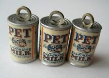 VTG Metal 1939 New York World's Fair PET EVAPORATED MILK Can Charms Giveaway LOT