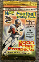 2000 Pacific Prism Prosp NFL Football Sealed Hobby Pack Tom Brady RC Year