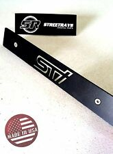 [SR] Black Aluminum Front License Plate Delete with [STi] 3D Laser Cut Out Logo