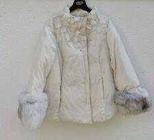 🌟MARINA RINALDI  Padded Jacket FOX FUR  PLUS size 21 USA W12_IT50_D42_GB16_FR46