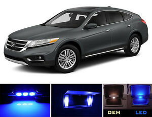 Ultra Blue Vanity / Sun visor  LED light Bulbs for Honda Accord Crosstour 4 Pcs