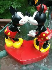 "Disney Collectable ""Kissing Mickey and Minnie Bobble Head Figurine"
