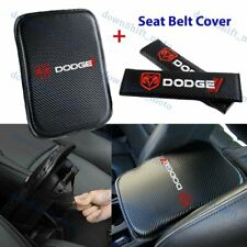 Embroidery For Dodge Car Center Armrest Cushion Mat Pad Cover Combo Set New