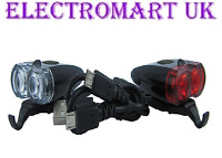 RECHARGEABLE HIGH POWER USB FRONT & REAR BIKE CYCLE BICYCLE LIGHTS LIGHT SET