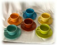 Homer Laughlin Fiestaware YOUR CHOICE Colorful Tea Cup and Saucer Sets EACH