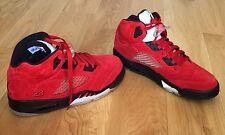 "Nike Jordan 5 Retro ""Raging Bull Red Suede"" Varsity Red, Black / 2009 - New"