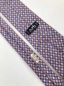 Hermes Paris Tie  Purple 7910 MA Silk 100%  Authentic 100% Made In France.  Rere