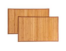"2PCS Bath Mat Bamboo Rug Bathroom Kitchen Hallway Floor Mat Pet Carpet 21"" x34"""