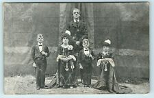 POSTCARD TROUPE OF ROYAL MIDGETS CIRCUS STAGE PERFORMERS UNCOMMON CARD