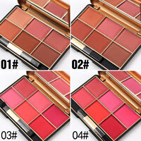 6 Colors Professional Beauty Cheek Makeup Cosmetic Blush Blusher Powder Palette.