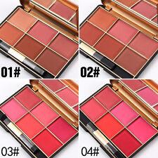 6 Couleurs Fard à Joues Visage Blush Poudre Miroir Palette Maquillage Cosmétique