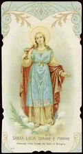 antico santino cromo-holy card S.LUCIA V.M.  salvardi