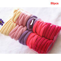 50Pcs Women Girls Hair Band Ties Rope Ring Elastic Hairband Ponytail Holder Pop