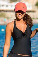 Pour Moi Splash Underwired Tankini Top Black 34DD Summer Beach Holiday Swim Wear