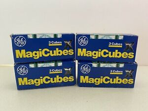 12 (4 Boxes) Vintage GE Magicube Camera Flash Cubes New Old Stock
