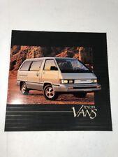 1984 Toyota Vans Brochure