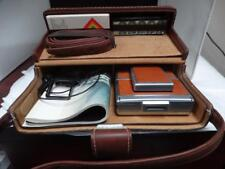 1973 Polaroid SX-70 Camera Working CASE Paperwork Flash Remote Close UP Lens etc