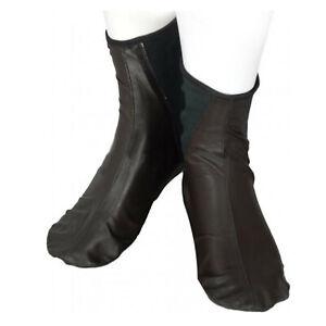 Dark Brown Halal Leather Soft Zipperless Sunnah Masah Khuffain Khuff Socks