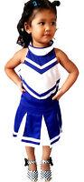 Kinder/Mädchen Mini Cheerleader-Kostüm/Fasching/Cosplay Kleid Dress Gr. 98-182