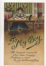 To My Boy [E288] 1910 Greetings Postcard 260b