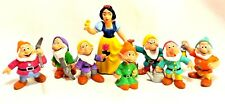 Bullyland Disney Set Snow White Seven Dwarfs Hand Painted Pvc Figurines