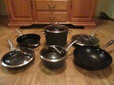 Calphalon/Circulon 10 Piece Cookware Pot/Frying Pan/Skillet/Wok Set ~ Glass Lids