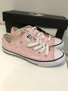 GENUINE Converse Crochet Pink Shoes, Size Uk1.5, Brand New