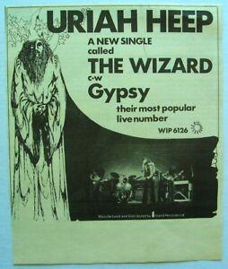 URIAH HEEP 1972 original ADVERT THE WIZARD