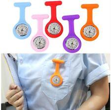 Large Face Digital Electric Silicone Nurse Brooc Fob Watch Nursing Pocke